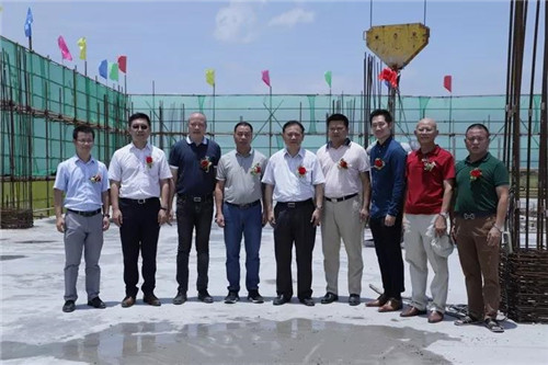 热烈庆祝金日长泰食品工业园办公楼暨一期工程封顶仪式圆满成功